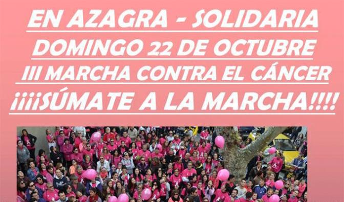 III Marcha contra el cáncer en Azagra