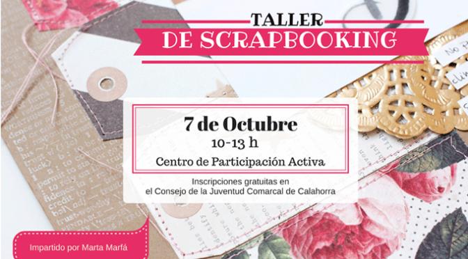 Taller gratuito de Scrapbooking para el próximo sábado