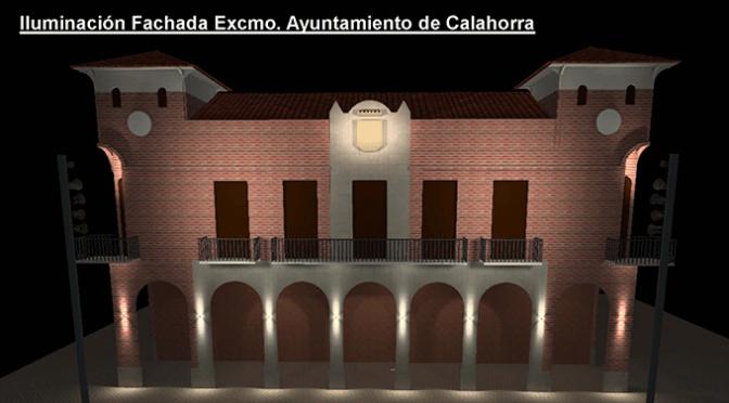 Nueva Iluminacion en la fachada principal del Ayuntamiento