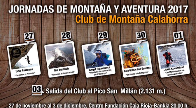 Continuan las las Jornadas de Montaña, hoy Rafa Ocón y Noe Escalera