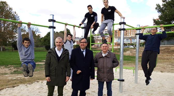Inaugurado en Calahorra el nuevo parque de Calistenia o Street Workout