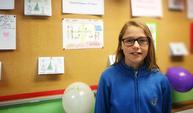 Alumna de La milagrosa gana el concurso de Dibujo de Navidad de la AECC