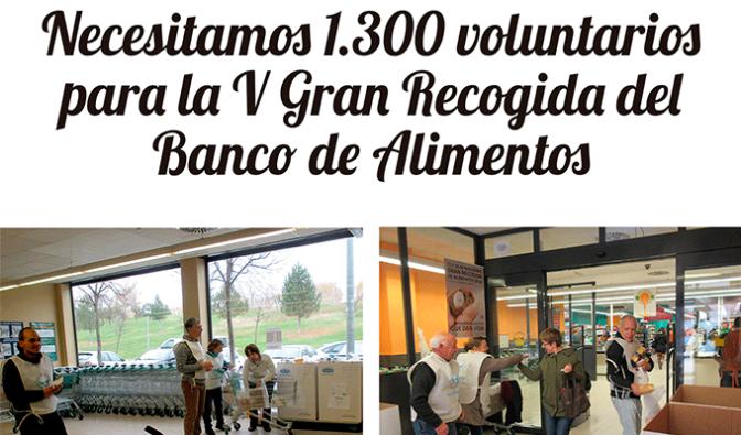 El Banco de Alimentos necesita 1.300 voluntarios para la V Gran Recogida