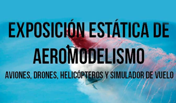 Exposición estática de aeromodelismo en Alfaro