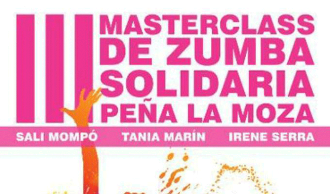III Masterclass de zumba solidaria Peña La Moza