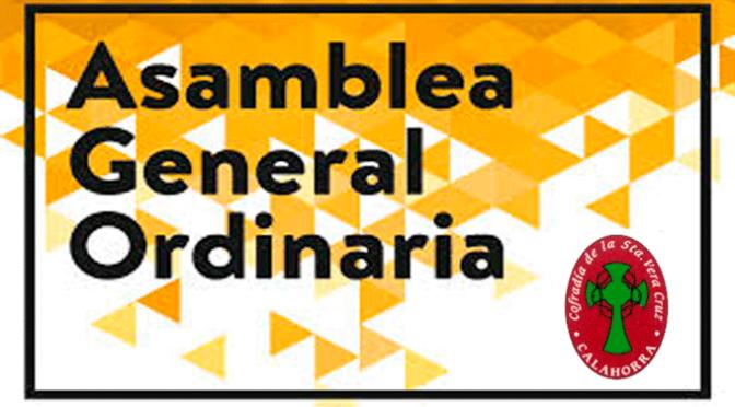 Asamblea general de la Cofradía de la Santa Vera Cruz