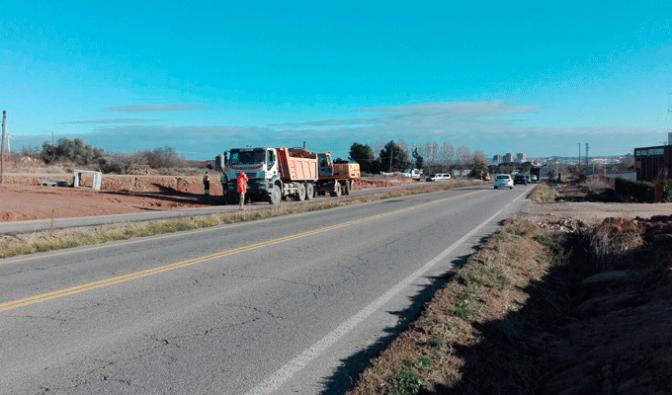 Comienzan las obras de acondicionamiento del primer carril bici de Calahorra