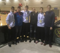 Jr. ABQ Dani Duque, Titas Janusevicius y Sergio López, apoyando a la selección cadete La Rioja