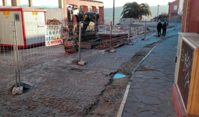Comienzan las obras en la plaza de la Verdura