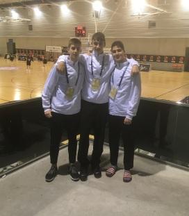 Selección cadete, Gabriel Martínez, Millán Jiménez y Jordi Sáinz. ABQ