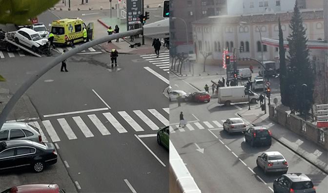 Cinco heridos en la colisión de dos turismos