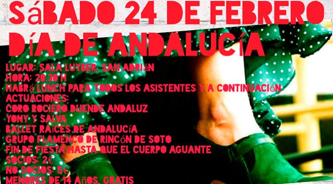 Este sábado se celebra en San Adrián el día de Andalucía