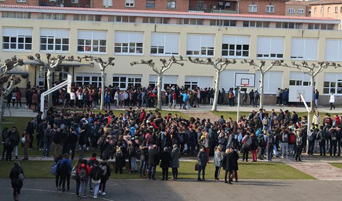 Comienzan las protestas en el Valle en apoyo a la creación del Centro Integrado de Formación Profesional en Calahorra