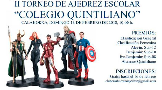 "II Torneo de ajedrez escolar "" Colegio Quintiliano"""