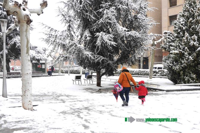 Vuelve la nieve a Calahorra