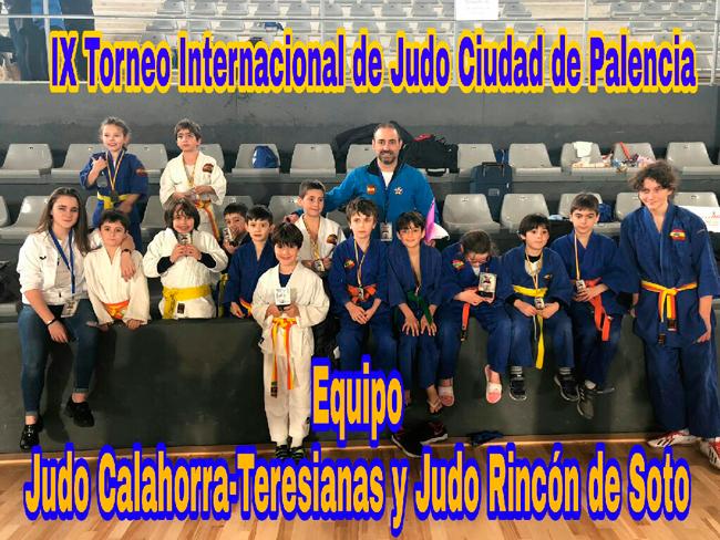 JUDOKAS DE TERESIANAS-CALAHORRA Y RINCÓN DE SOTO EN PALENCIA