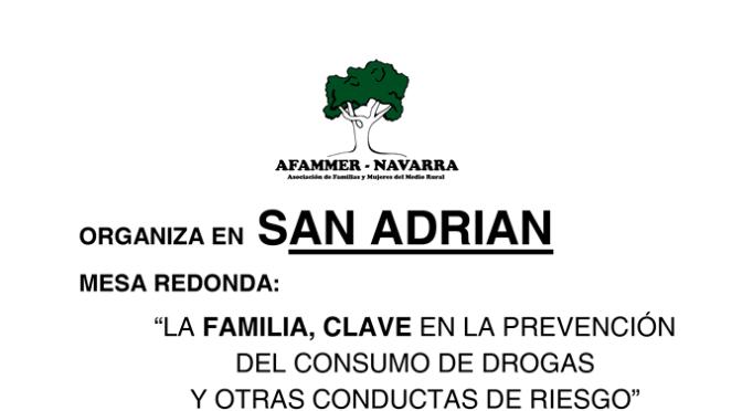 Mesa redonda de prevencion de drogas en San Adrián