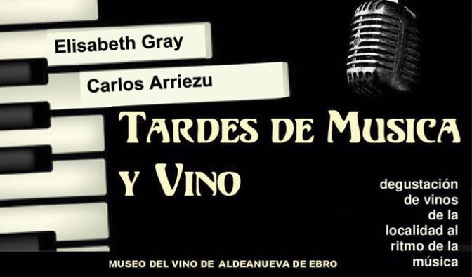 Carlos Arriezu y Elisabeth Gray en las tardes de música y vino