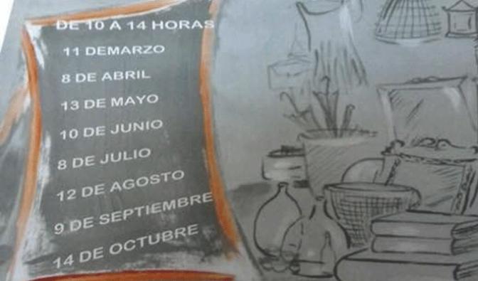 Este domingo Rastro del Casco Antiguo con taller de marcapáginas