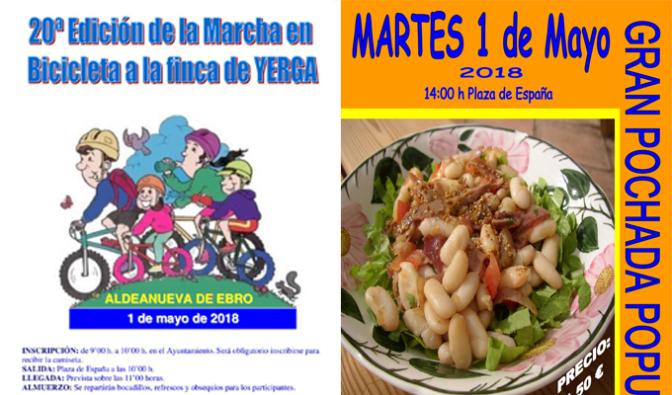Mañana, Fiesta del 1 de Mayo en Aldeanueva de Ebro