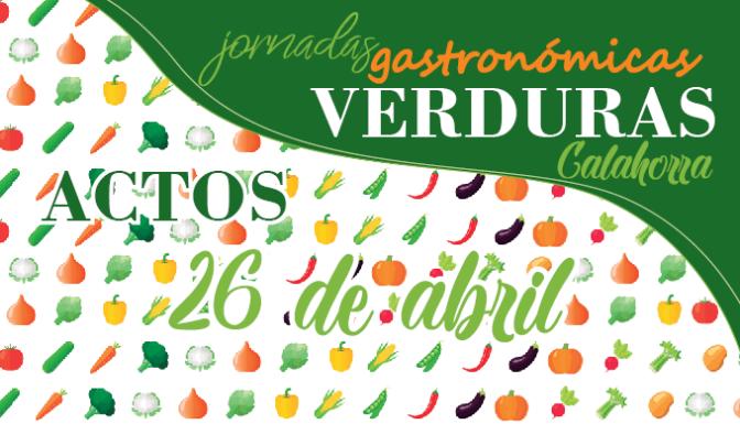 Agenda para el jueves, 26 de abril de lasXXII Jornadas Gastronómicas de la Verdura