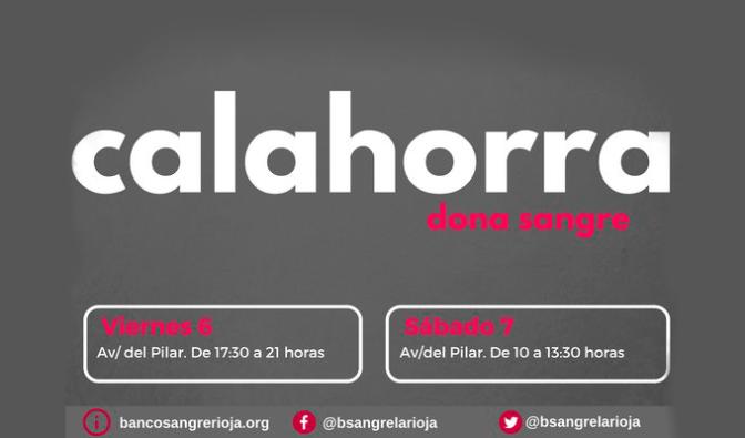Hoy y mañana en Calahorra, dona sangre, dona vida