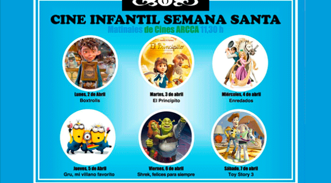 Ciclo de cine de infantil la primera semana de abril