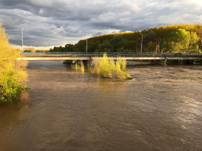 Galería: imágenes del río Ega y Río Ebro a su paso por San Adrián