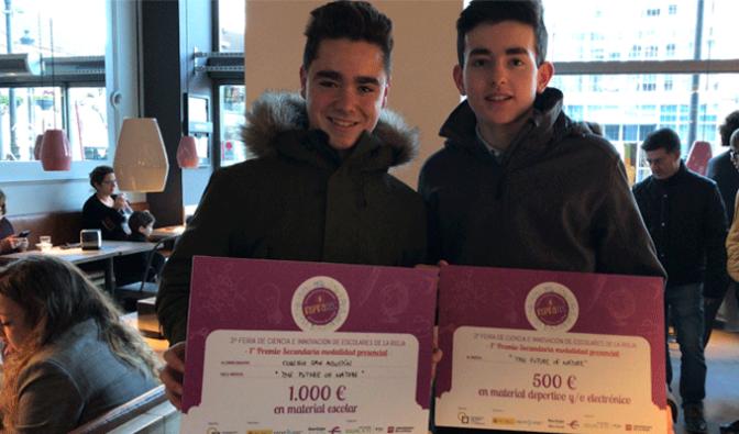 Dos alumnos de Agustinos consiguen el primer premio en la Feria de Ciencia e Innovación 'Inspiratec'