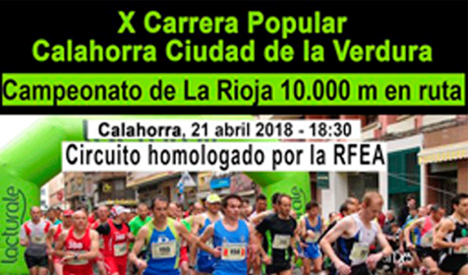 X Carrera popular Calahorra Ciudad de la verdura