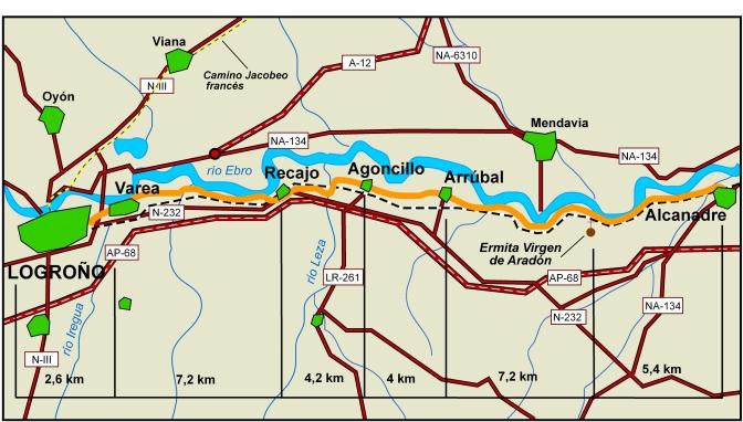 Continua el Camino Jacobeo del Ebro con la etapa Alcanadre-Agoncillo