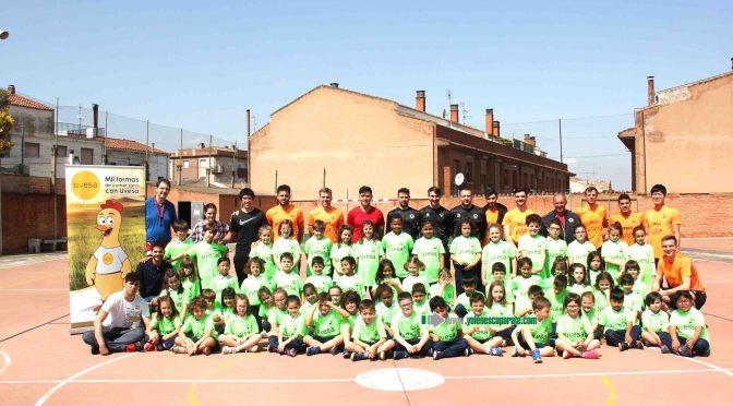 El Tour Uvesa Ribera ha vuelto al colegio Coami con todo el equipo ASPIL-VIDAL