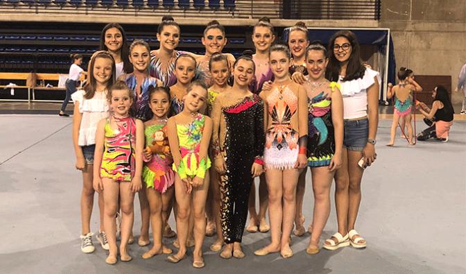 13 gimnastas del C.D.Active en los Juegos Deportivos de La Rioja