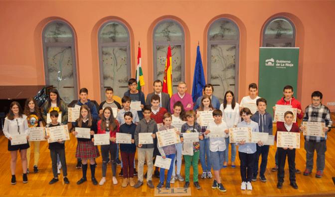 Diego Pérez Calvo del CPC San Agustín premiado en el Concurso Primavera de Matemáticas en La Rioja