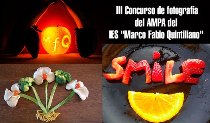 """Ganadores III Concurso de fotografía del AMPA del IES """"Marco Fabio Quintiliano"""""""