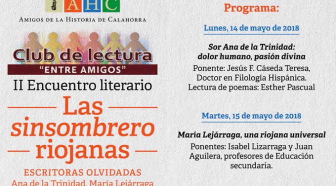 """Hoy finaliza el II ENCUENTRO LITERARIO DEL CLUB DE LECTURA """"ENTRE AMIGOS"""