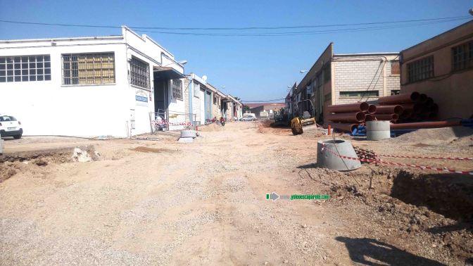 Las obras de urbanización de la calle Algarrada finalizarán  a finales de junio