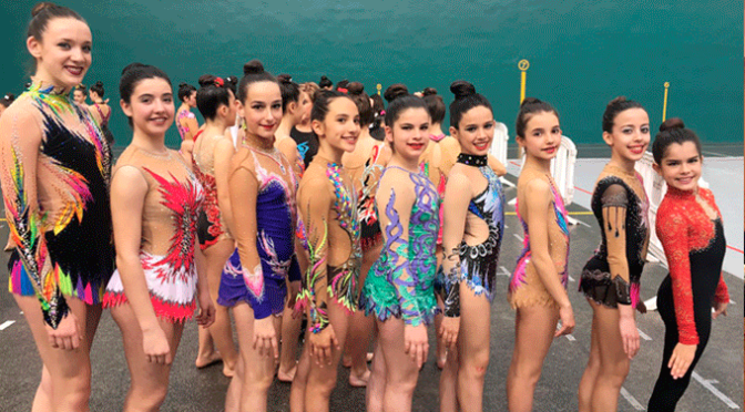 Buenos resultados para las gimnastas de la A.D. Agustinos de Calahorra
