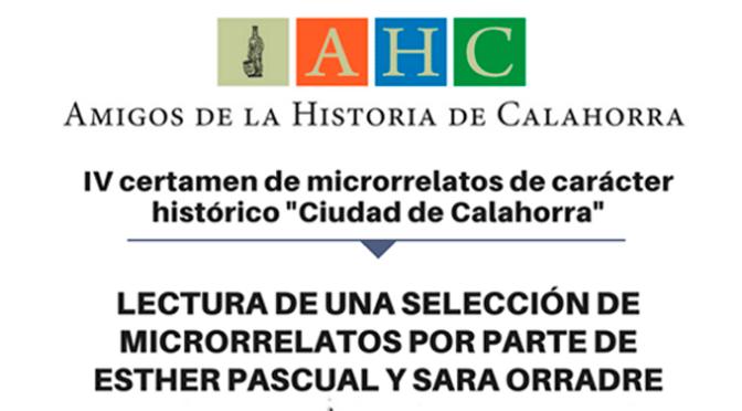 Sara Orradre y Esther Pascual leerán varios trabajos del último certamen de microrrelatos