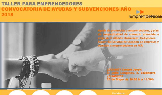Taller gratuito para emprendedores el 25 de mayo