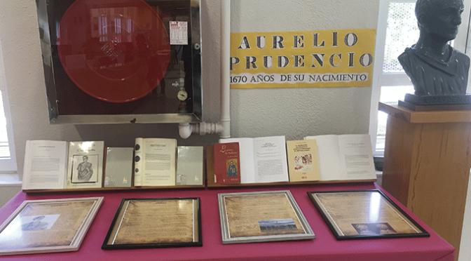 """Centro de interés para el poeta calagurritano Aurelio Prudencio en La Biblioteca municipal """"Pedro Gutiérrez"""""""