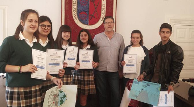 """Entrega de los premios del concurso escolar """"Clases sin humo"""""""
