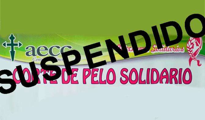 Suspendido el corte de pelo solidario de la Junta local de la AECC
