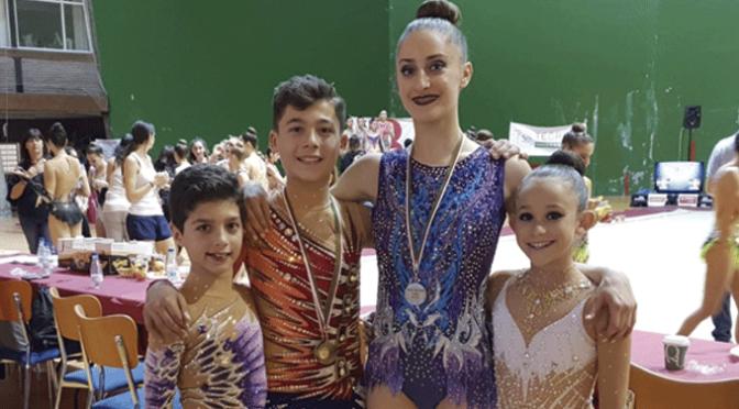 Gran fin de semana para los gimnastas absolutos del Club Gimnasia Rítmica A.D. Agustinos de Calahorra