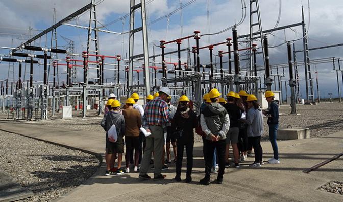 Alumnos del IES Marco Fabio Quintiliano de Calahorra visitan la la subestación de Santa Engracia