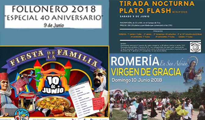 Dia del follonero, tirada nocturna, dia de la familia, romería… Este fin de semana en San Adrián