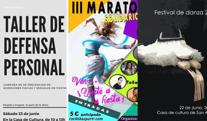 Danza, tiro al plato, defensa personal, zumba… Este fin de semana en San Adrián