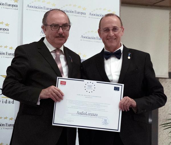Medalla Europea al mérito en el trabajo para Audio Lorenzo