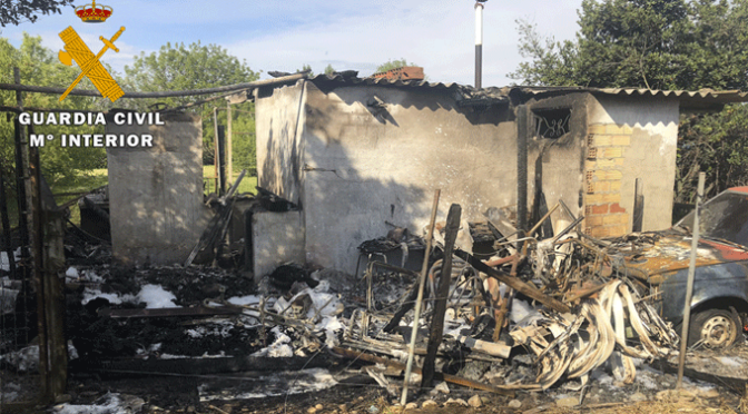 La Guardia Civil localiza al responsable de numerosos incendios en la ribera Navarra y en la zona de Alfaro