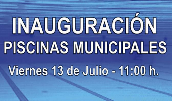 Inauguración de las piscinas municipales de Autol